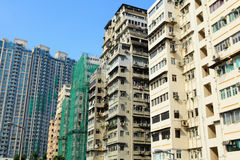 Hong Kong crowded building Royalty Free Stock Photos