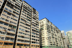 Hong Kong crowded building Royalty Free Stock Photography
