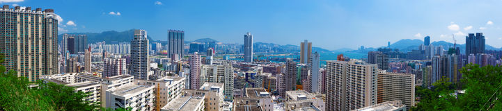 Hong Kong crowded building Royalty Free Stock Images