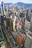 Hong Kong crowded buildings Royalty Free Stock Photography
