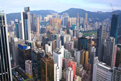 Hong Kong crowded buildings Stock Photos