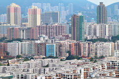 Hong Kong crowded buildings Royalty Free Stock Photo