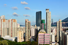 Hong Kong crowded buildings Royalty Free Stock Image