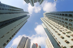 Hong Kong crowded buildings Stock Image