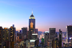 Hong Kong with crowded buildings Stock Images
