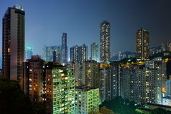 Hong Kong with crowded buildings Royalty Free Stock Images