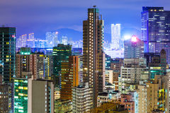 Hong Kong with crowded buildings Royalty Free Stock Image
