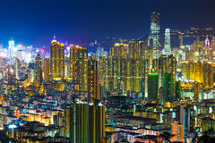 Hong Kong with crowded buildings Royalty Free Stock Photo