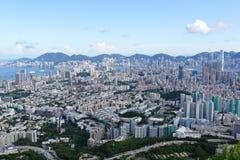 Hong Kong crowded city Stock Photo