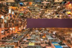 Hong Kong Crowded Living stock photography