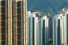 Hong Kong crowded residential buildings Royalty Free Stock Photography