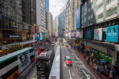 Hong Kong crowded street view Royalty Free Stock Photography