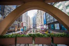 Hong Kong crowded street view Royalty Free Stock Photo