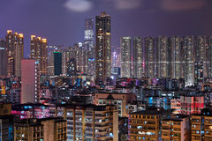 Hong Kong crowded urban city Royalty Free Stock Photos