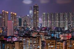 Hong Kong crowded urban city Royalty Free Stock Photos