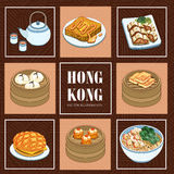 Hong Kong cuisines Stock Images