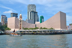 Hong Kong Cultural Centre. And Clock Tower with blue sky Stock Photography
