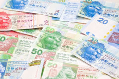 Hong Kong currency background Stock Images