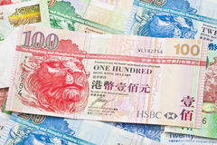 Hong Kong currency background Royalty Free Stock Photography
