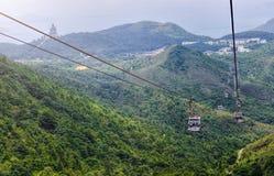 HONG KONG, CZERWIEC 09, Ngong świst 360 jest turystyki projektem na Lanta Obrazy Stock