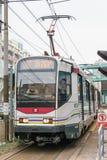 Hong Kong - 3 décembre 2015 : Rail de lumière de Hong Kong MTR Le système op Photos stock