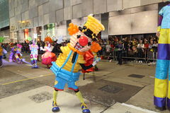 Hong Kong : Défilé chinois international 2014 de nuit de nouvelle année Photo stock
