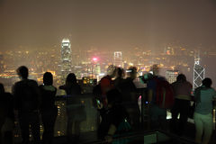 Hong Kong dal picco della Victoria Fotografia Stock