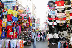 Hong Kong: Damtoalettmarknad Arkivfoton