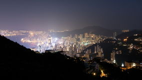 Hong Kong Day to Night Timelapse stock video