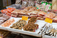 Hong Kong - 4 de dezembro de 2015: Tai Po Market um ponto de turista famoso dentro Imagens de Stock