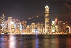 HONG KONG - 17 DE ENERO: Horizonte en enero 17,2015 de Hong Kong Imagen de archivo libre de regalías