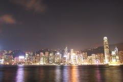 HONG KONG - 17 DE ENERO: Horizonte en enero 17,2015 de Hong Kong Imagen de archivo