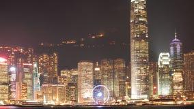 HONG KONG - 17 DE ENERO: Horizonte en enero 17,2015 de Hong Kong Foto de archivo