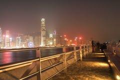 HONG KONG - 17 DE ENERO: Horizonte en enero 17,2015 de Hong Kong Imagenes de archivo
