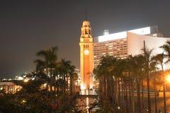 HONG KONG - 17 DE ENERO: Torre de reloj en enero 17,2015 Fotos de archivo libres de regalías