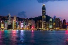Hong Kong-de horizon van de eilandhaven stock afbeelding