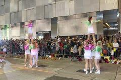 Hong Kong: De internationale Chinese Parade 2014 van de Nieuwjaarnacht Stock Afbeeldingen