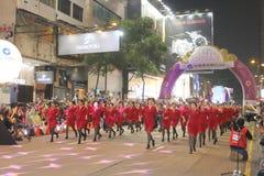 Hong Kong: De internationale Chinese Parade 2015 van de Nieuwjaarnacht Royalty-vrije Stock Foto