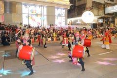 Hong Kong: De internationale Chinese Parade 2015 van de Nieuwjaarnacht Stock Afbeeldingen