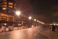 HONG KONG - 17 de janeiro: A avenida das estrelas na noite janeiro 17.201 Imagens de Stock