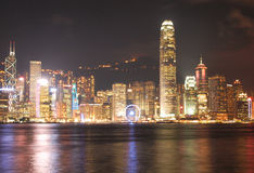 HONG KONG - 17 DE JANEIRO: Skyline em janeiro 17,2015 de Hong Kong Imagem de Stock Royalty Free