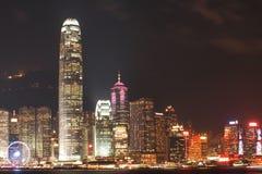 HONG KONG - 17 DE JANEIRO: Skyline em janeiro 17,2015 de Hong Kong Fotos de Stock