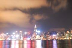HONG KONG - 17 DE JANEIRO: Skyline em janeiro 17,2015 de Hong Kong Fotografia de Stock Royalty Free