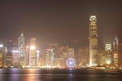 HONG KONG - 17 DE JANEIRO: Skyline em janeiro 17,2015 de Hong Kong Fotografia de Stock