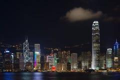 Hong Kong de Kowloon la nuit Image libre de droits