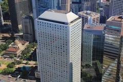 Hong Kong, de mening van China van IFC Stock Afbeelding
