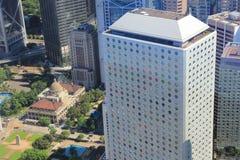 Hong Kong, de mening van China van IFC Stock Afbeeldingen