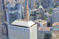 Hong Kong, de mening van China van IFC Stock Foto