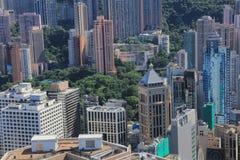 Hong Kong, de mening van China van IFC Royalty-vrije Stock Foto