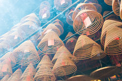 Hong Kong - Dec 04 2015: Circular incenses at Man Mo Temple. a f Stock Images